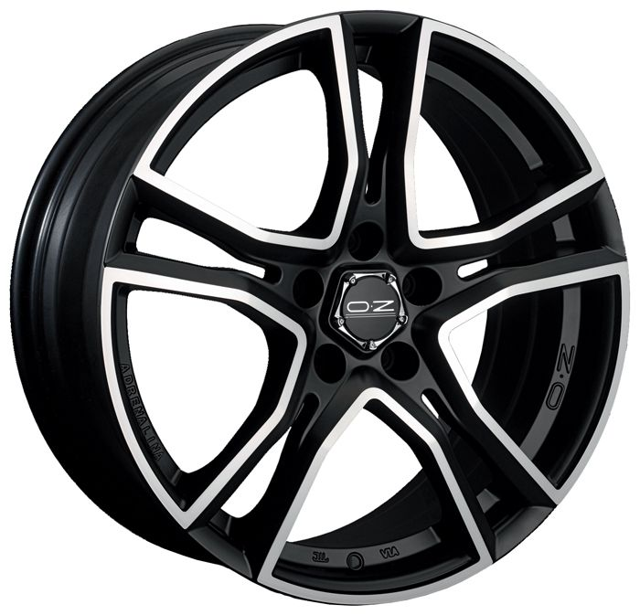 Литой OZ Racing Adrenalina R17/8 PCD5*114,3 ET40 DIA75 Matt Black Diamond Cut