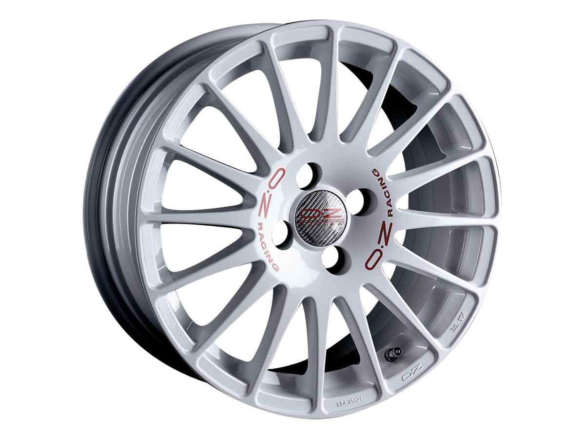 Литой OZ Racing Superturismo WRC R17/7 PCD4*100 ET40 DIA68 White Red Lettering