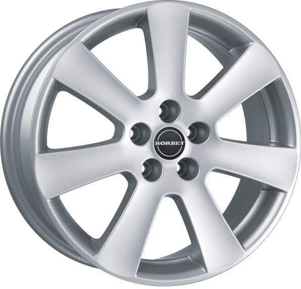 Литой Borbet CA R16/7 PCD5*112 ET38 DIA57.1 Crystal Silver