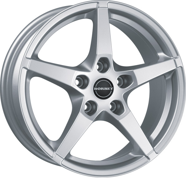 Литой Borbet FS R17/8 PCD5*114,3 ET40 DIA72.6 Brilliant Silver